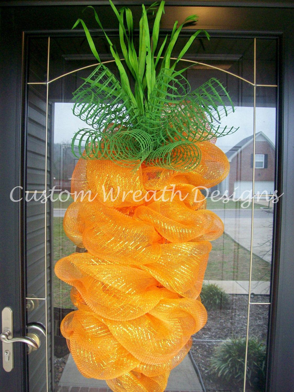 Cute deco mesh carrot by Custom Wreath Designs