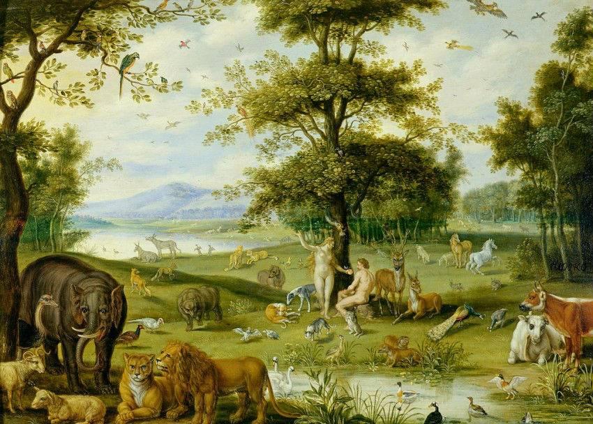 Alegor as jan brueghel el viejo taringa for Adan y eva en el jardin