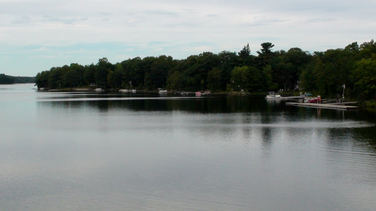 Lake with cottages
