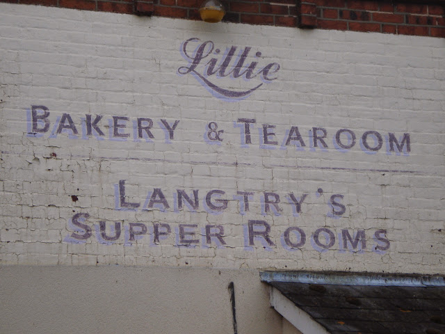 The old fashioned signage on the wall