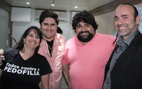 Marta Lança, César Menotti e Fabiano Heleno