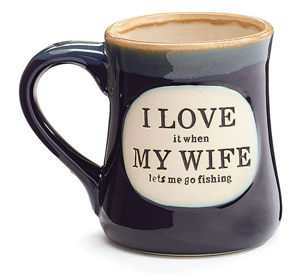 Funny coffee mugs and mugs with quotes i love it when my wife lets me go fishing mug - Funny coffee thermos ...