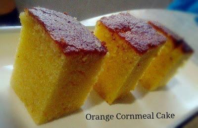 喵喵的午后小园: Orange Cornmeal Cake