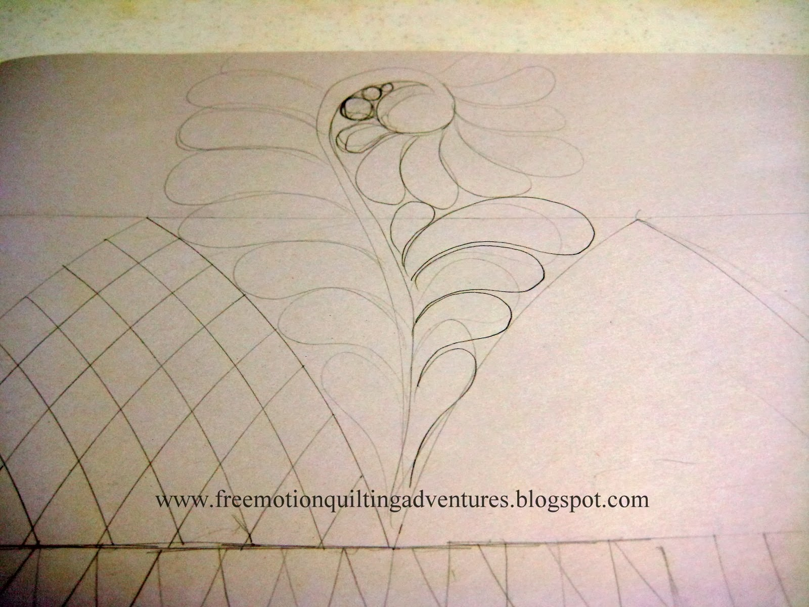planning free motion quilting designs, crosshatching and feathers