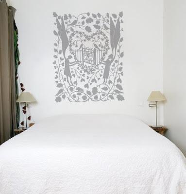 Boiserie c stencil project pi di 40 idee per mobili - Stencil per pareti ikea ...