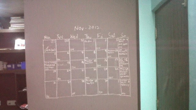 Wall planner mindful scheduling