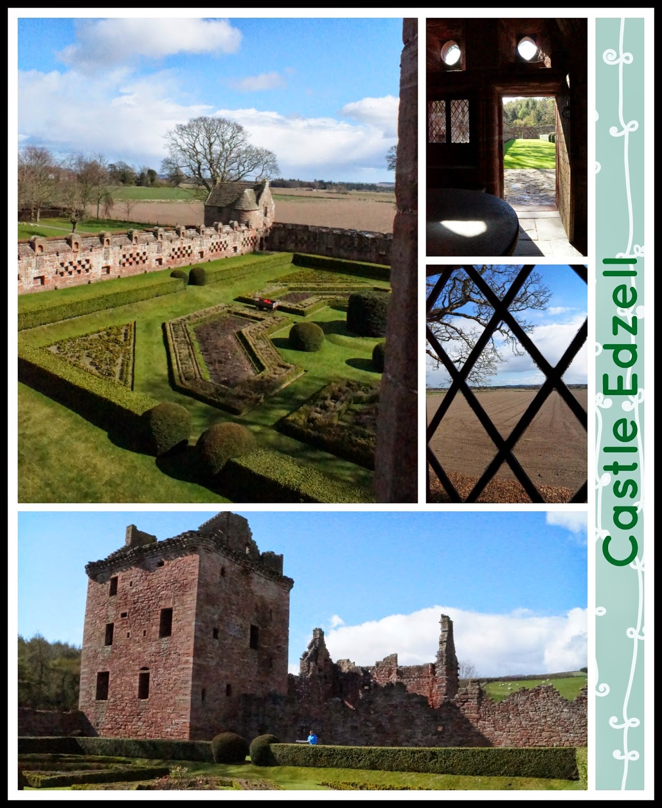 Castle Edzell collage - 'growourown.blogspot.com' ~ An allotment blog