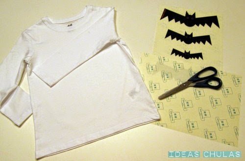 Materiales DIY camiseta Halloween