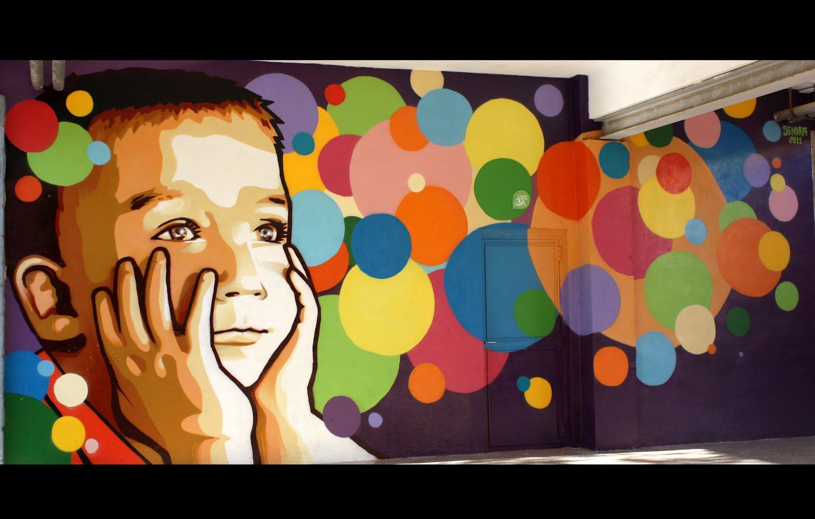 Rpsendra murales para ceip jaime balmes for Murales de tela para pared