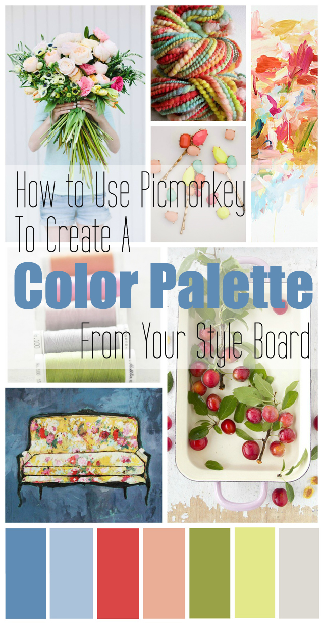 How to Use Picmonkey to Create a Color Palette Collage by MamaBleu.com