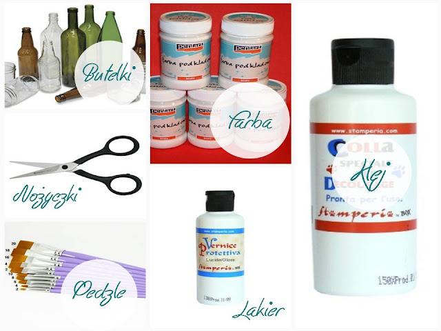 tutorial podstawy decoupage produkty potrzebne do decoupage'u