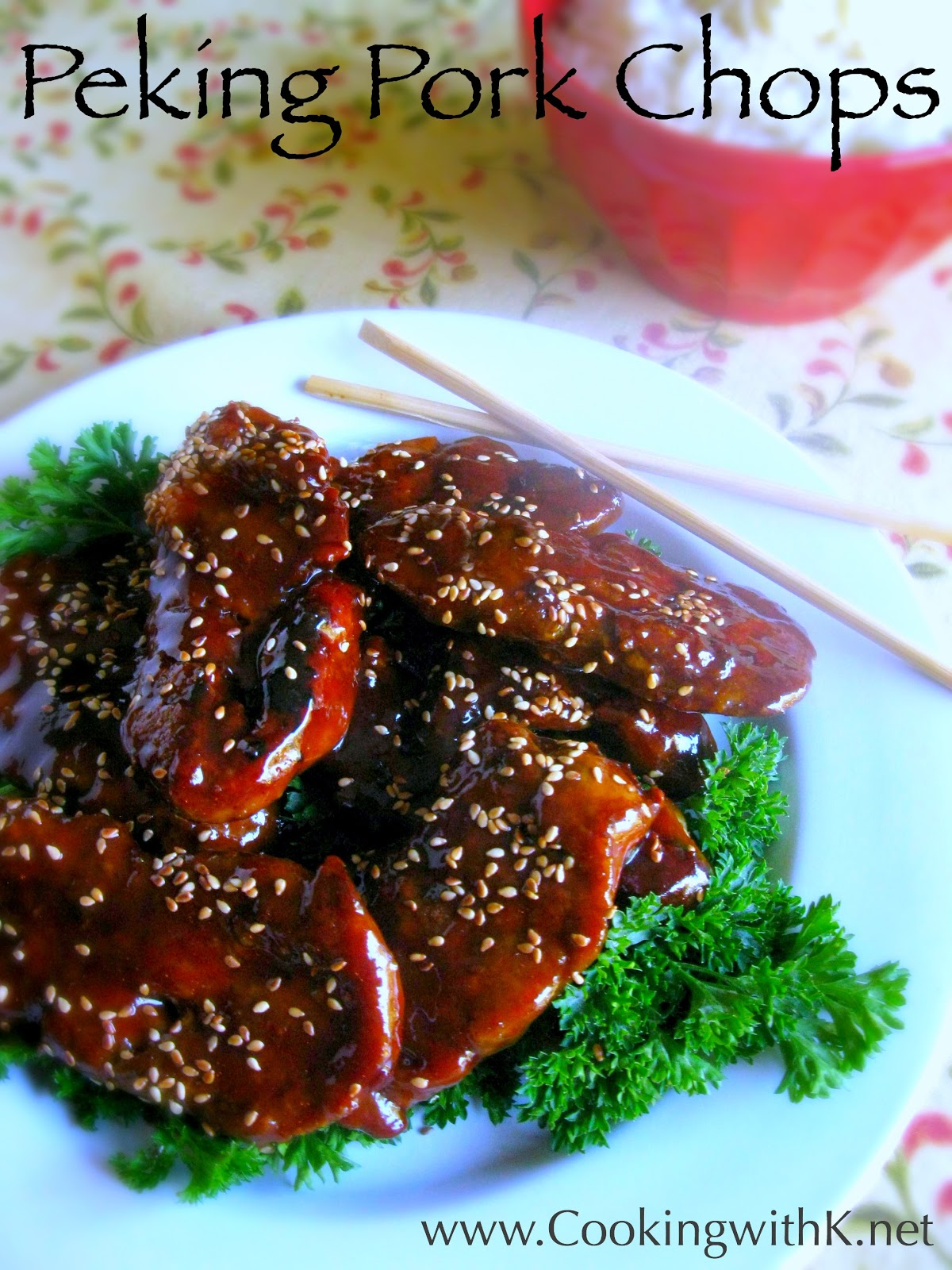 Cooking with K: Peking Pork Chops