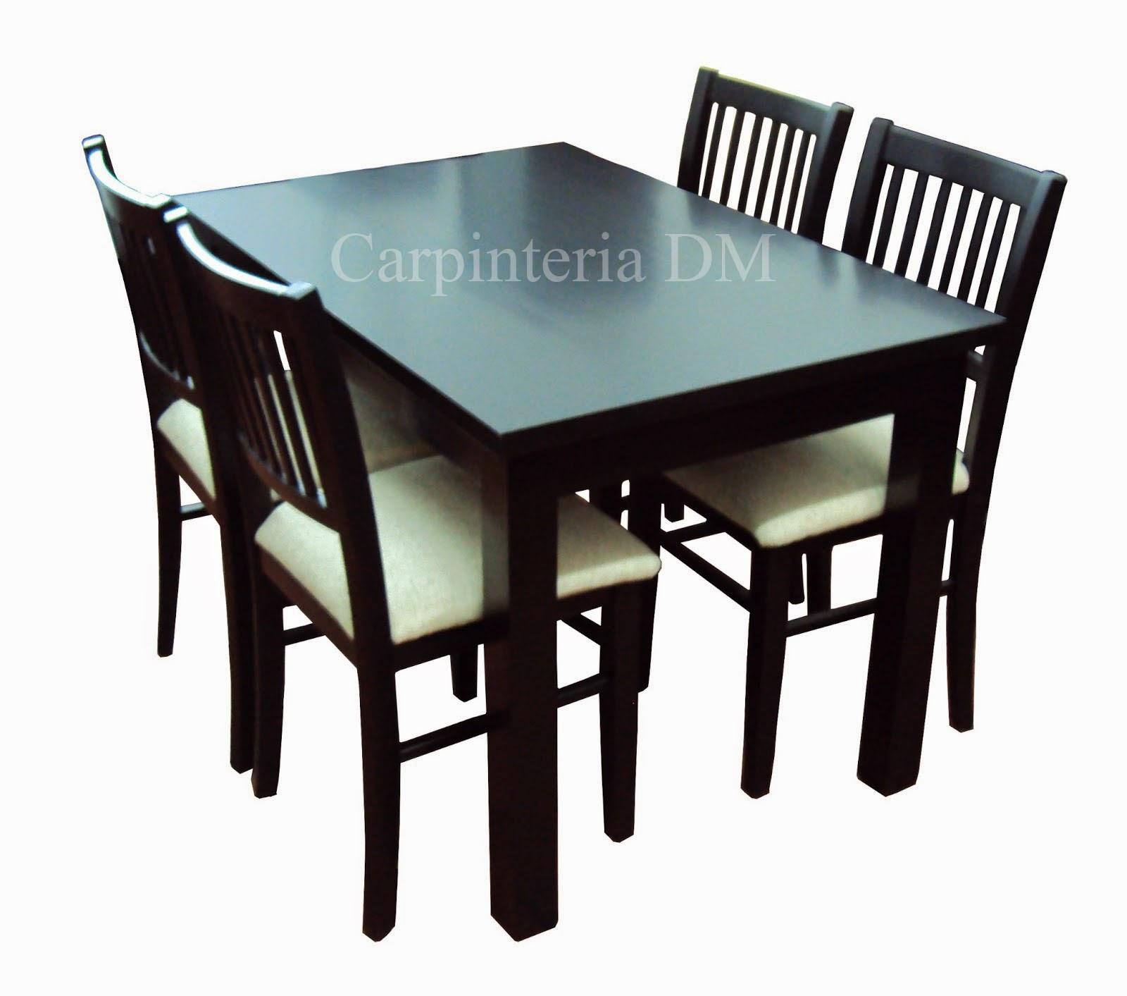Mesas comedor capinteriadm dise os for Comedores de 4 sillas economicos
