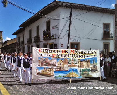 The Parade to celebrate the 479 Aniversary of Pátzcuaro