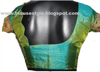 back and front neck blouse