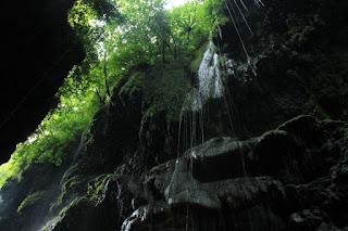 tetesan air dari atas tebing