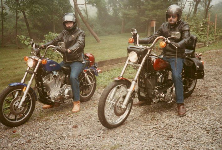 Easy Rider Days....On Sportster in Asheville NC With Bruce