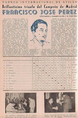 I Torneo Internacional de Ajedrez de Avilés 1947 en la revista Ajedrez Español (1)