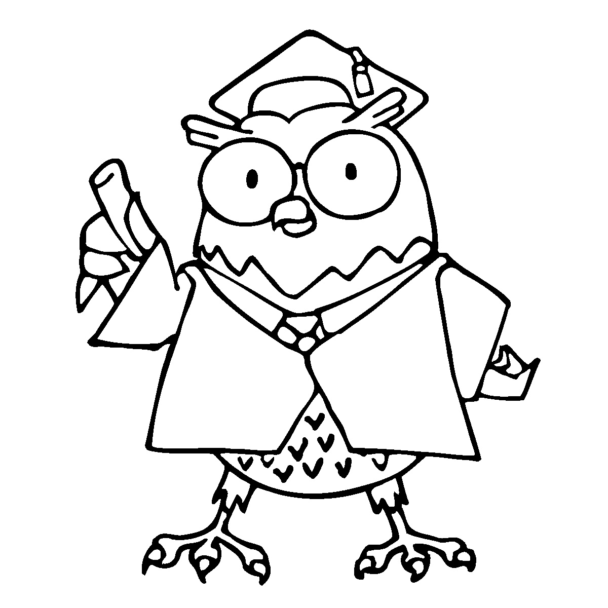 Owl coloring pages free - Owl Coloring Pages