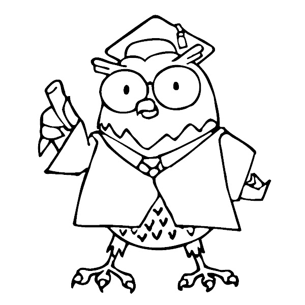 Owl Clip Art Black and White