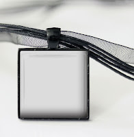 Digital template for bezel pendant with black ribbon