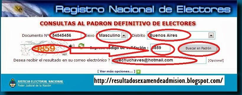 Elecciones Argentina 2013 Consulta Padron Electoral Donde Votar
