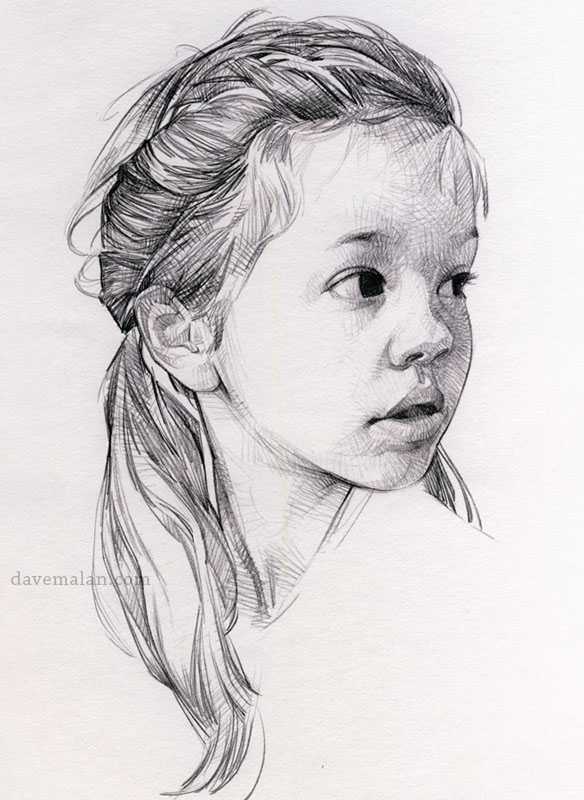how to draw a girl face for children