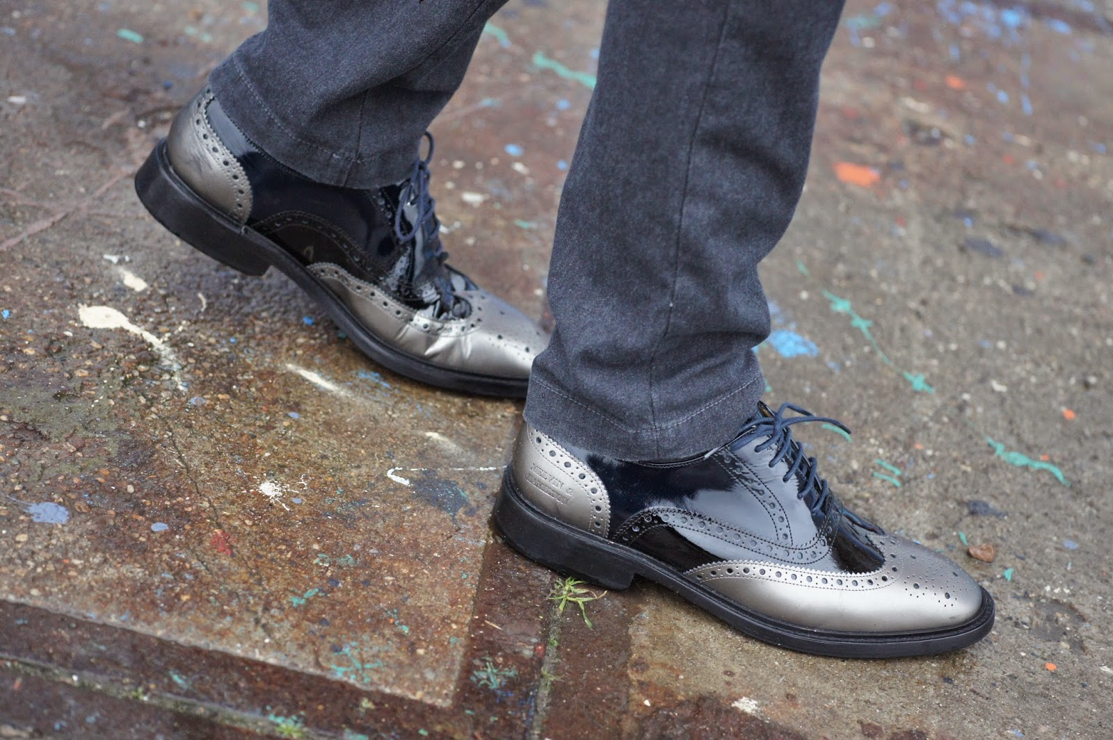 Dapper Hot Boy with melvin & hamilton brogue shoes