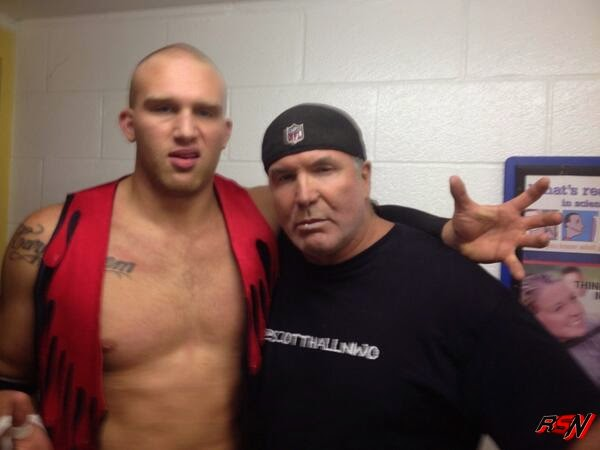 Scott Hall Backstage at Indy Event with His Son