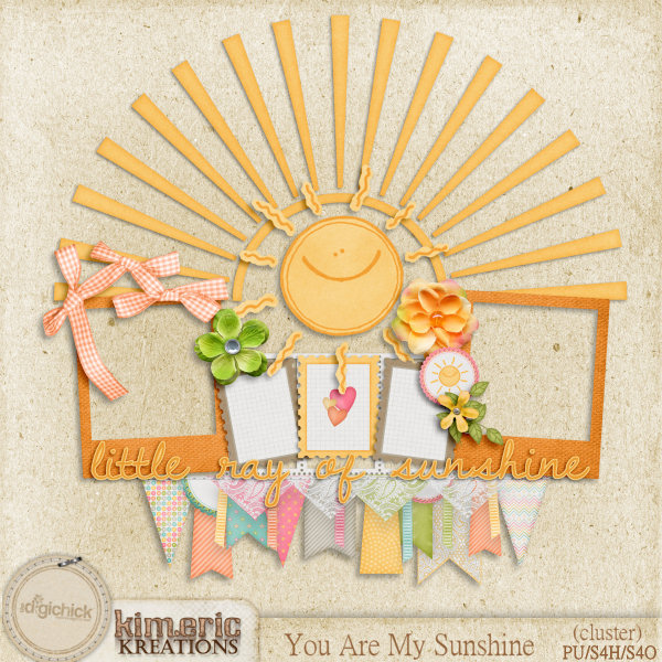 another beautiful frame cluster today from jenni using you are my sunshine my gals have sure been busy enjoy - You Are My Sunshine Frame