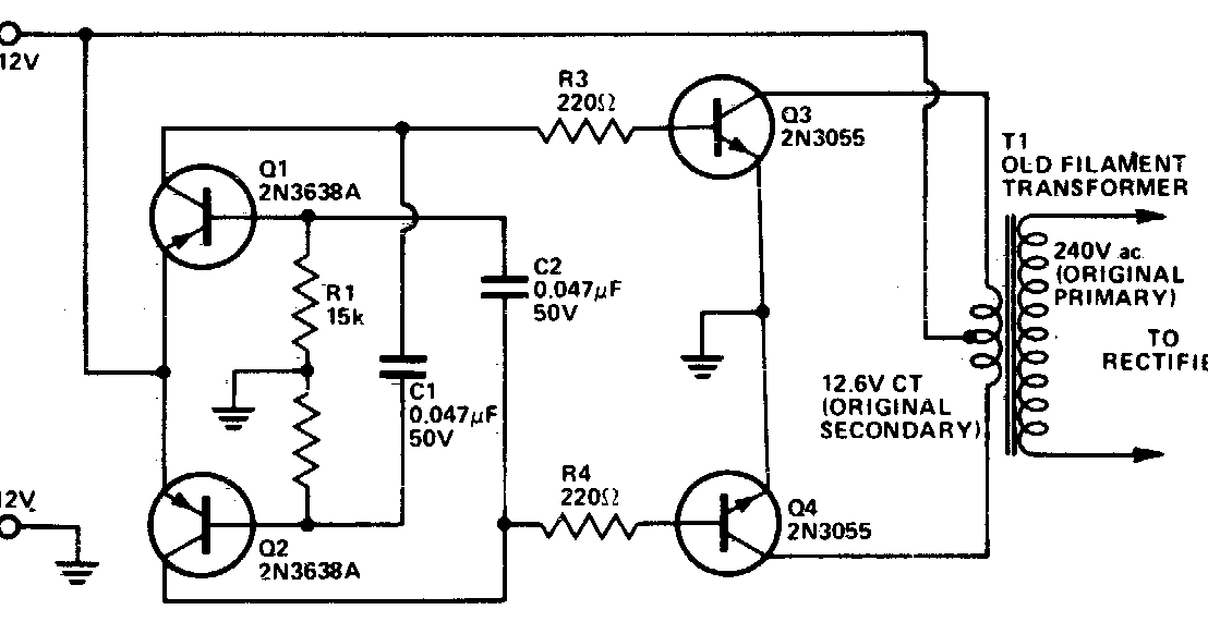 Dc To Dc Ac Inverter Circuit Diagram on transformer rectifier schematic