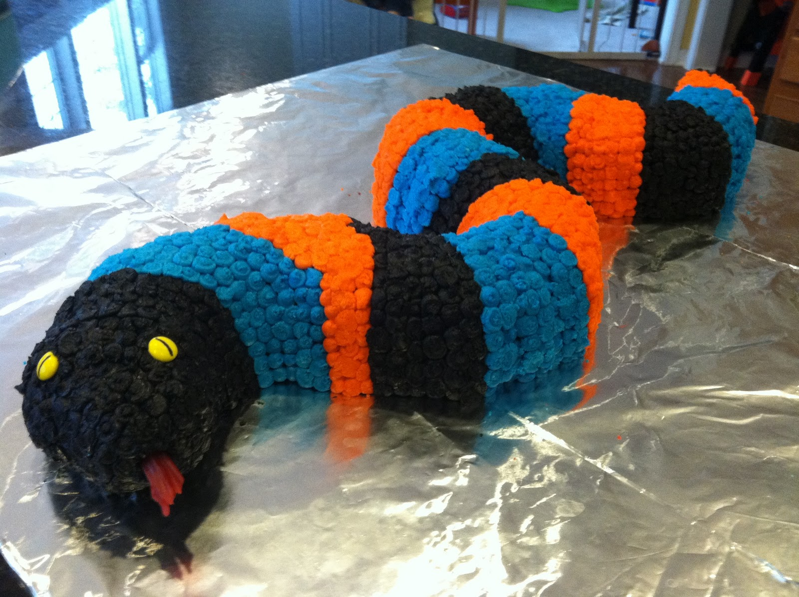 the weekly sweet experiment hudsons birthday snake cake