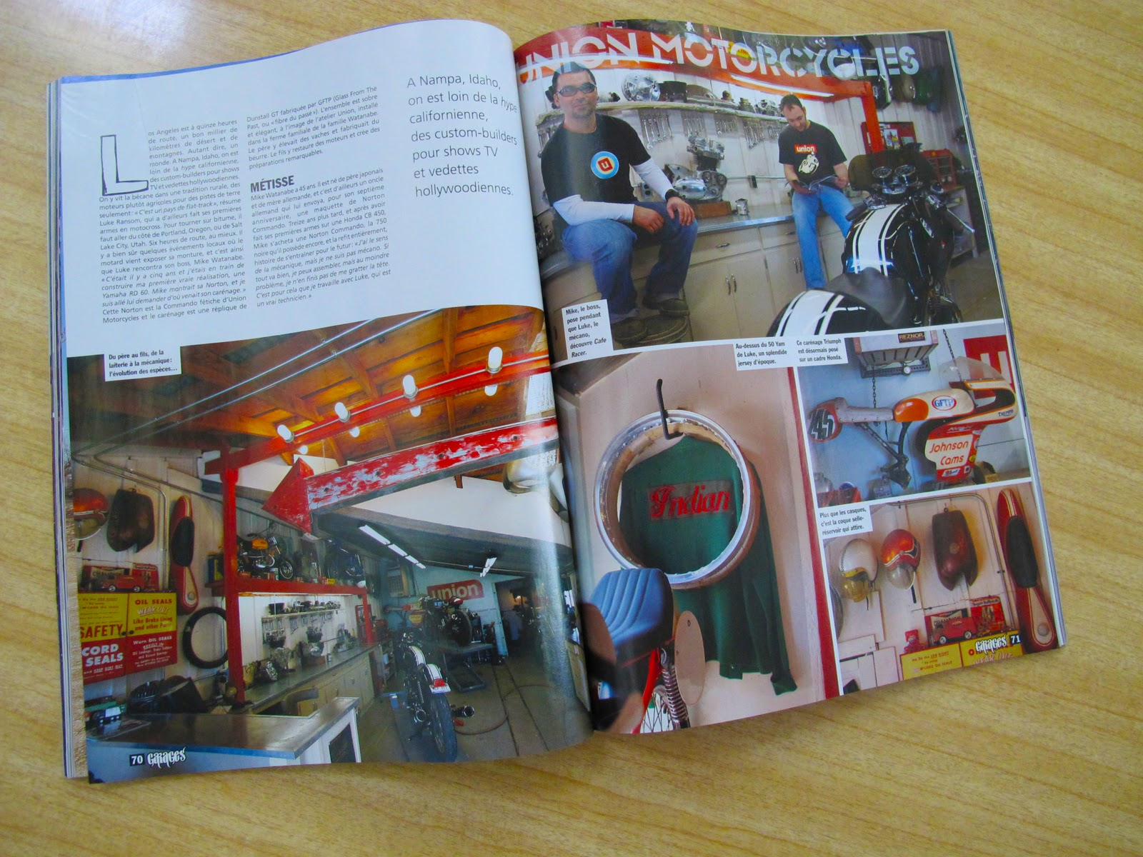 union gftp french caferacer magazine special garage issue 2. Black Bedroom Furniture Sets. Home Design Ideas