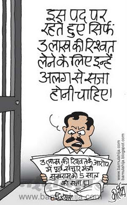 2 g spectrum scam cartoon, corruption in india, corruption cartoon, indian political cartoon, tihaad jail cartoon, a raja