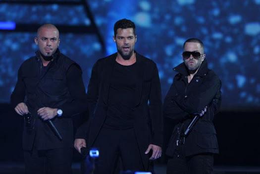 Ricky Martin y Wisin & Yandel en Premios Juventud