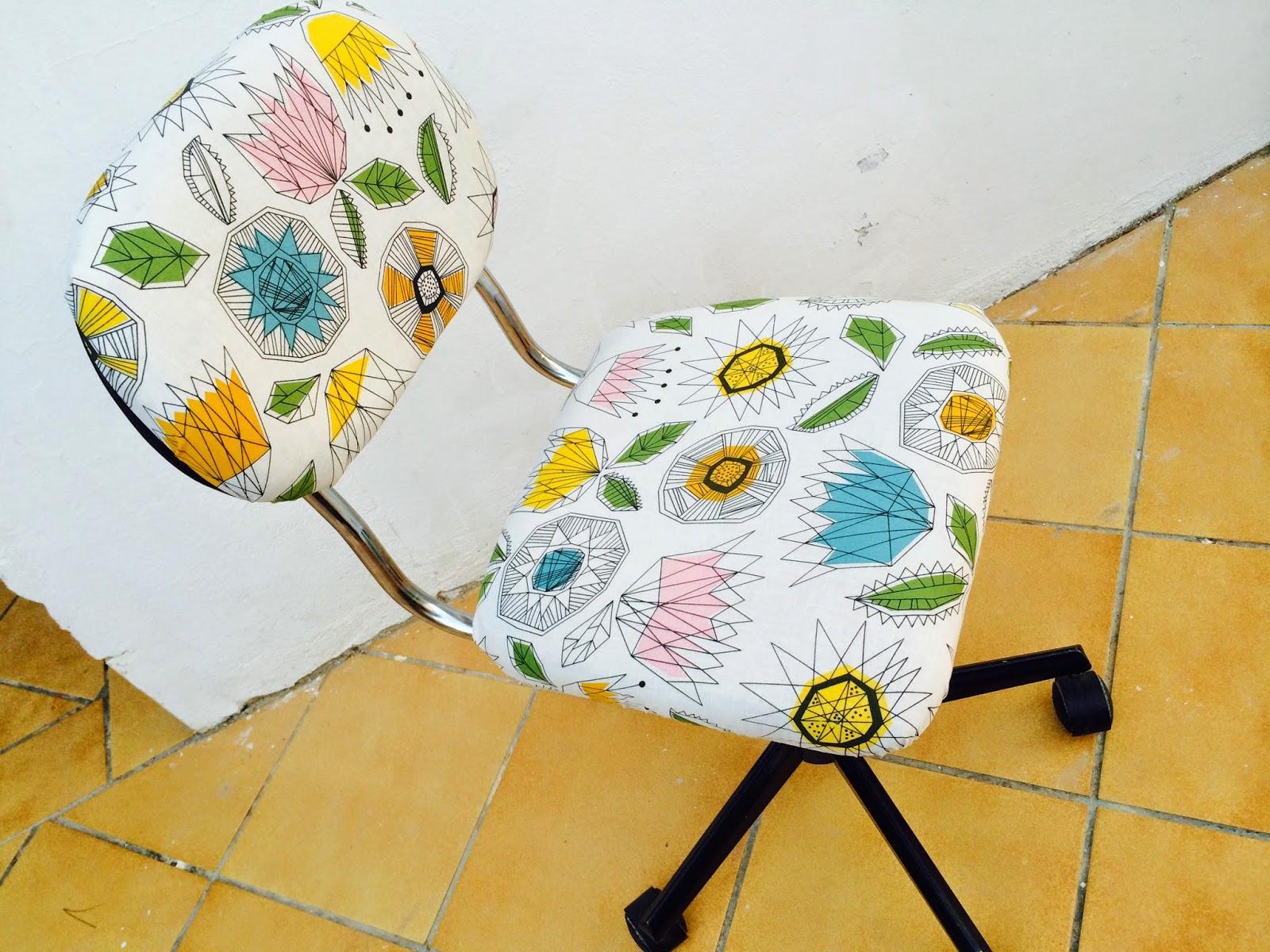 El blog de lorenna tapizar silla despacho for Sillas despacho ikea