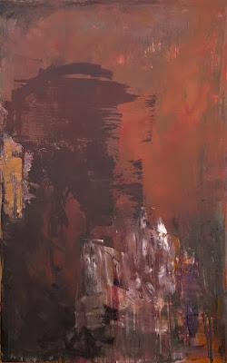 "Terra Del Sol 48x30"" abstract by Karri Allrich - SOLD"