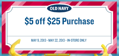 Printable Old Navy Coupon – $5 Off a $25 Purchase