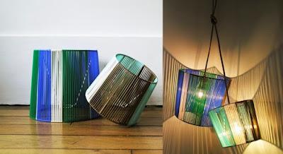 luminaire en scoubidou facile à faire, DIY