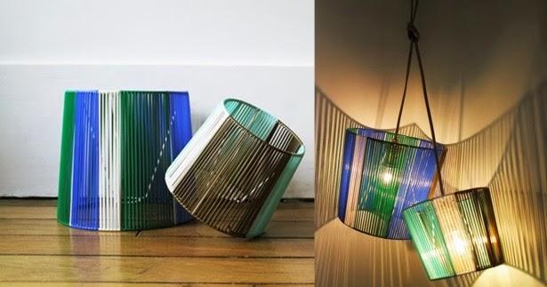 d co fait main cr er une lampe de chevet en scoubidou. Black Bedroom Furniture Sets. Home Design Ideas