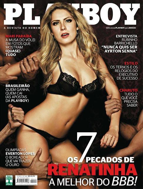 comfira as fotos de Renatinha e seus 7 Pecados Capitais no Big Brother Brasil 12, Renata D'ávila, capa da Playboy de maio de 2012!