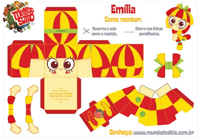 Bonequinhos Sítio do Picapau Amarelo - Dia do Livro Infantil