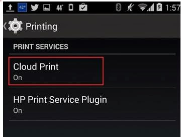 android features printing