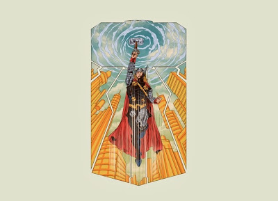 "Marvel x Threadless Thor T-Shirt Collection - ""Thor A God Among Worlds"""