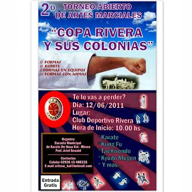 2º ABIERTO DE KARATE COPA RIVERA Y SUS COLONIAS (RIVERA 12/06/2011)