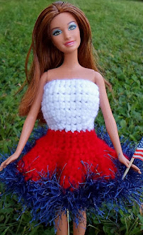 crochet patriotic barbie dress-free pattern