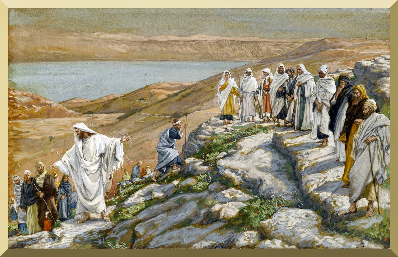 """Ordaining of the Twelve Apostles"" -- by James Tissot"