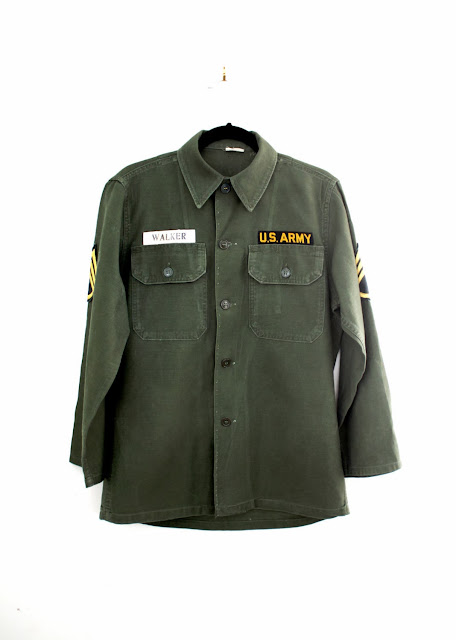 vintage men's military shirts and jackets at the cutandchicvintage boutique