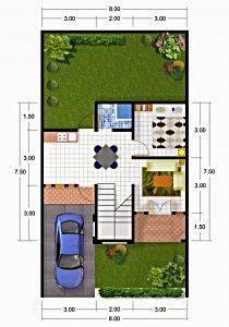Gambar%2BDesain-Denah-Rumah-Ukuran-8-x-7-5-m-210x300