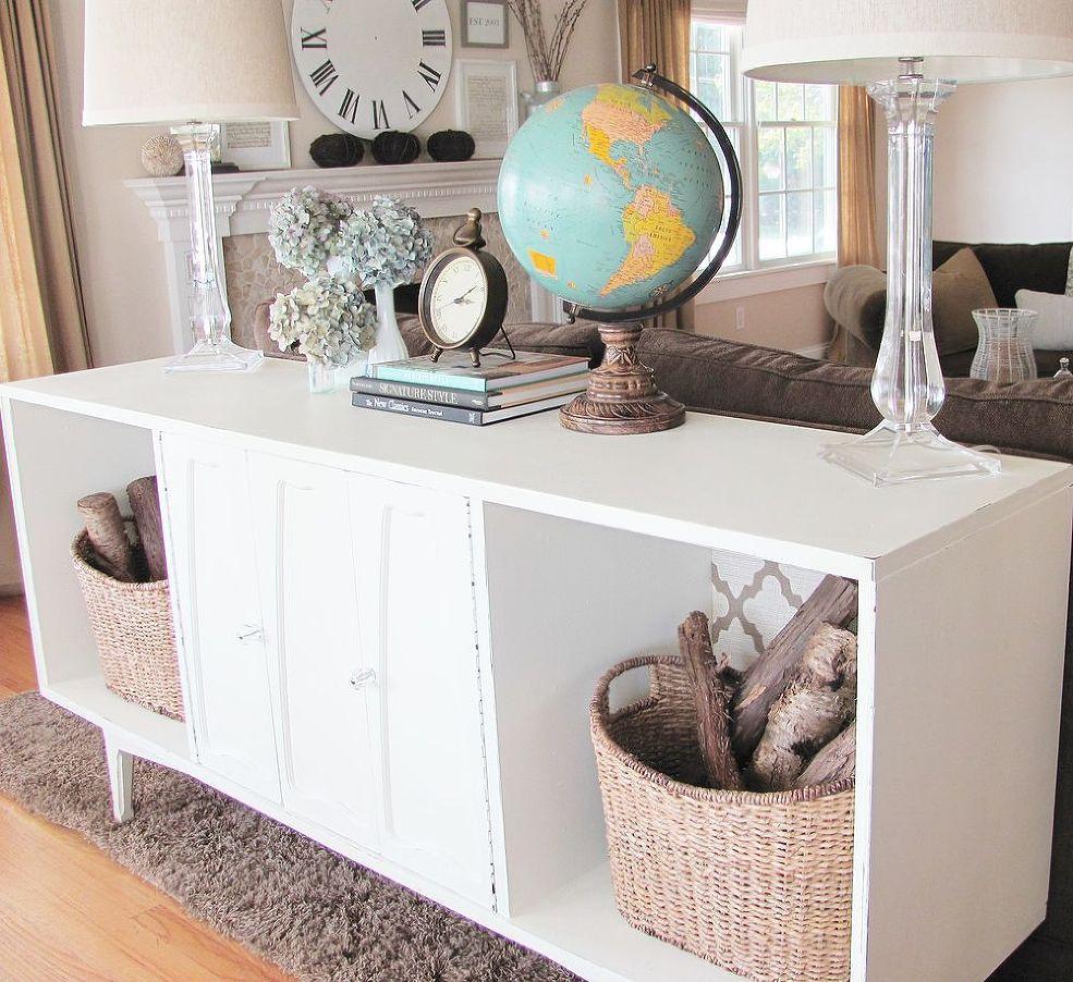 vintage stereo repurposed furniture